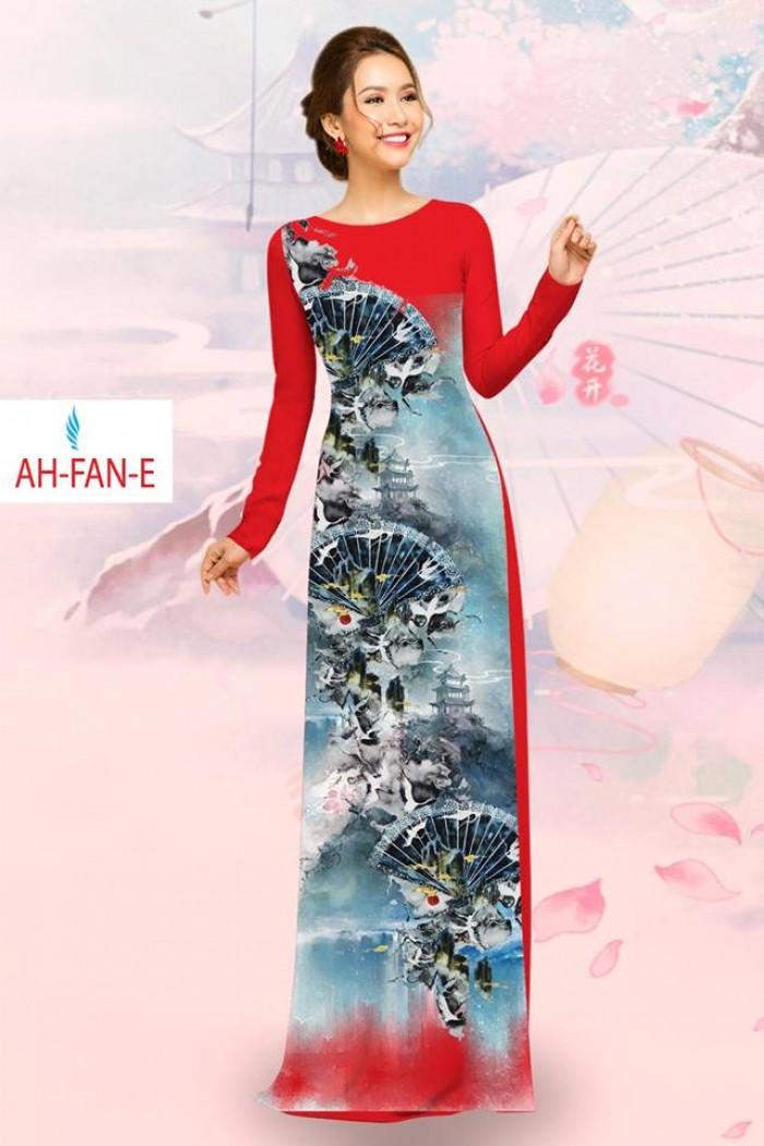 Vải áo dài đẹp in 3D AH FAN5