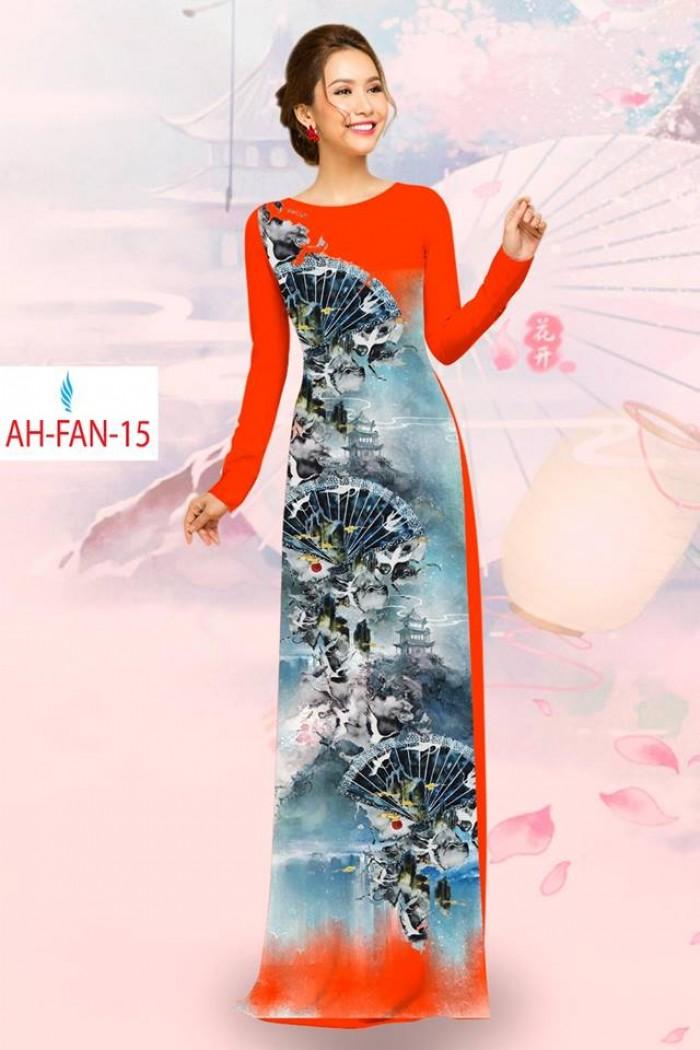 Vải áo dài đẹp in 3D AH FAN1
