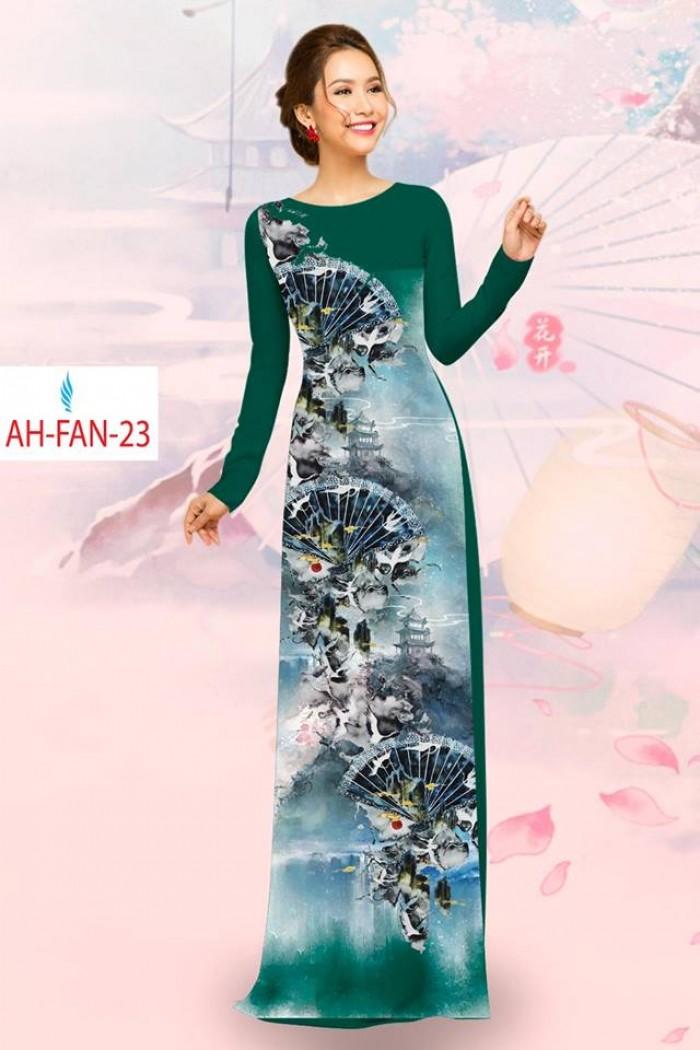 Vải áo dài đẹp in 3D AH FAN8