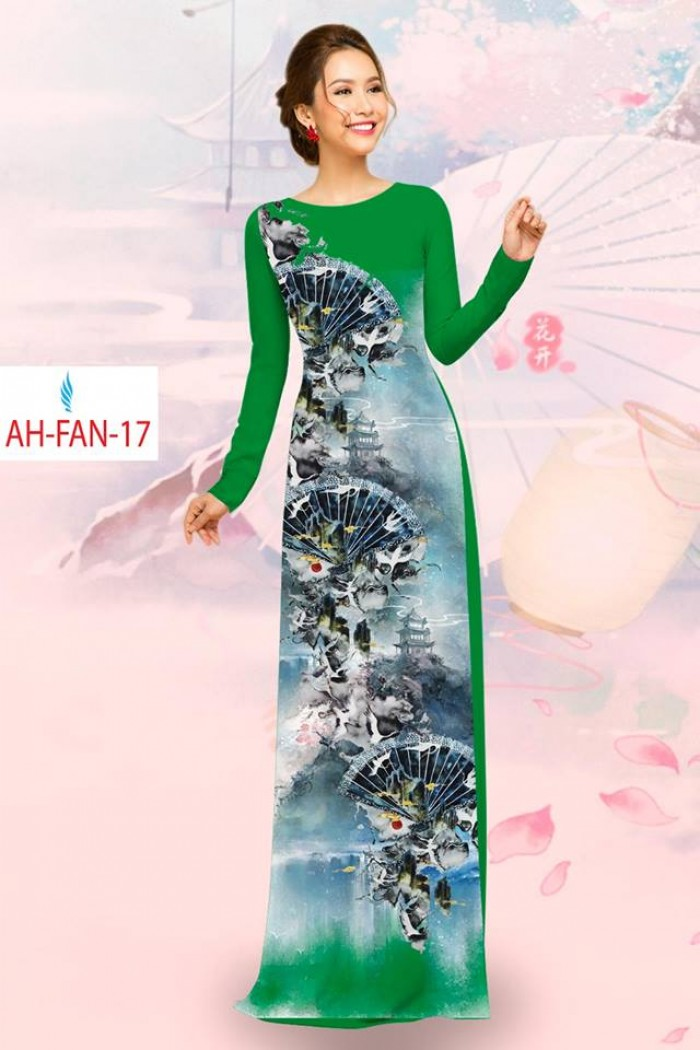 Vải áo dài đẹp in 3D AH FAN0