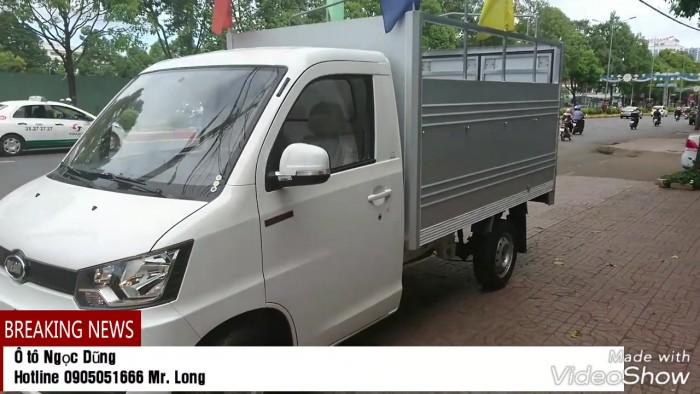 Xe tải máy xăng 750kg Veam VFT095 thùng lừng/thùng bạt/thùng kín