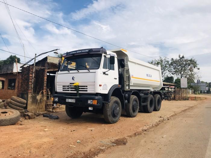 Xe ben Kamaz 6540, Xe ben 20 tấn Kamaz thùng vuông xe có sẵn 2016