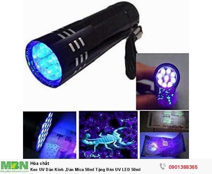 Keo UV Dán Kính, Dán Mica 50ml Tặng Đèn UV LED 50ml1