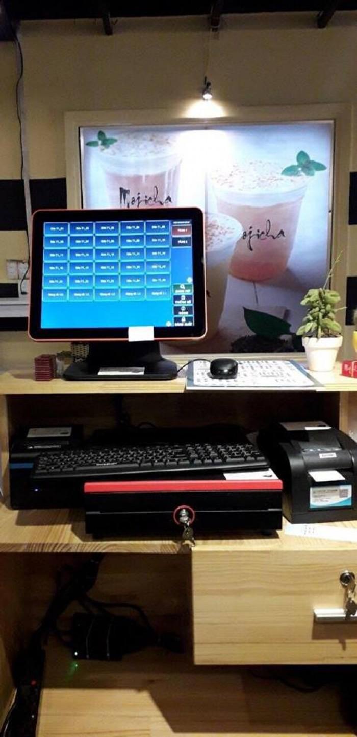 Liên hệ lắp đặt máy tính tiền cảm ứng cho Quán Trà Sữa tại Bắc Ninh1
