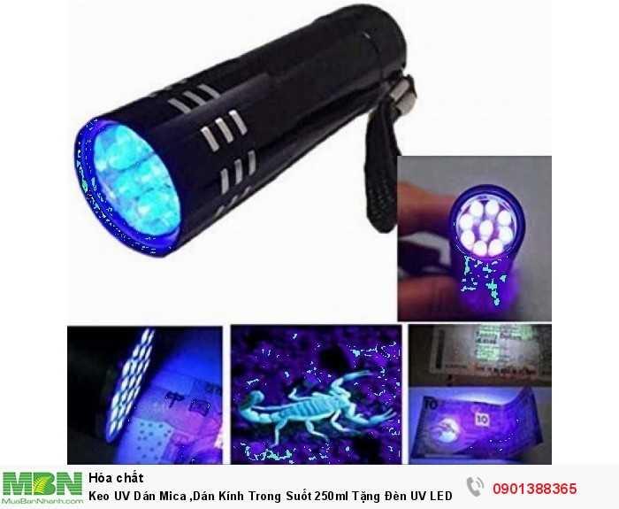 Keo UV Dán Mica, Dán Kính Trong Suốt 250ml Tặng Đèn UV LED4