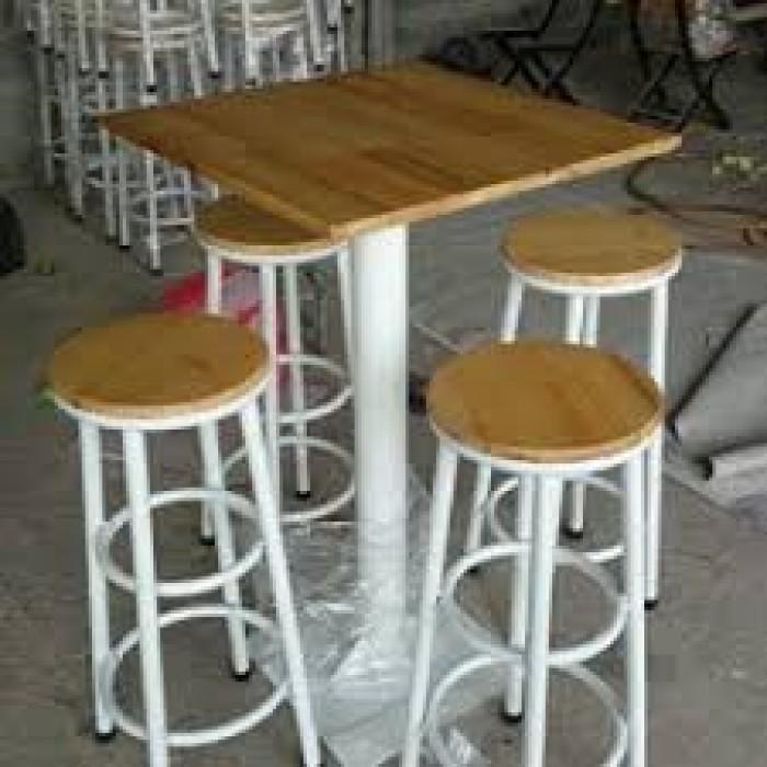 Bàn ghế quầy cafe giá rẻ tại xưởng sản xuất HGH0801