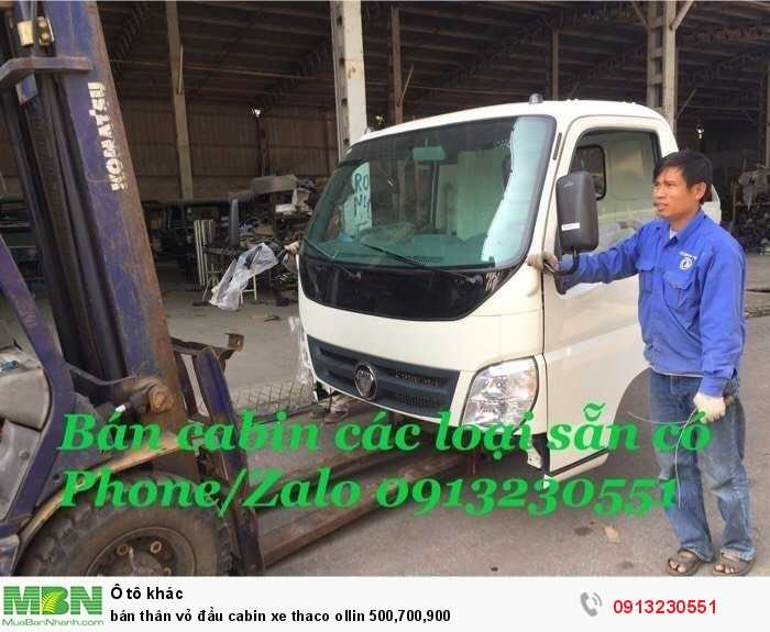 Bán thân vỏ đầu cabin xe Thaco Olin 500,700,900
