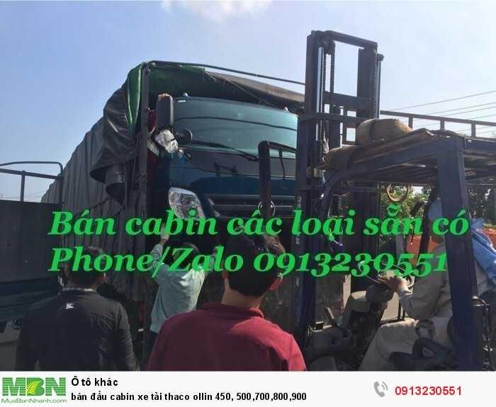 Bán đầu cabin xe tải thaco ollin 450, 500,700,800,900