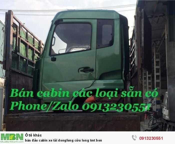 Bán đầu cabin xe tải Dongfeng Cửu Long tmt ben
