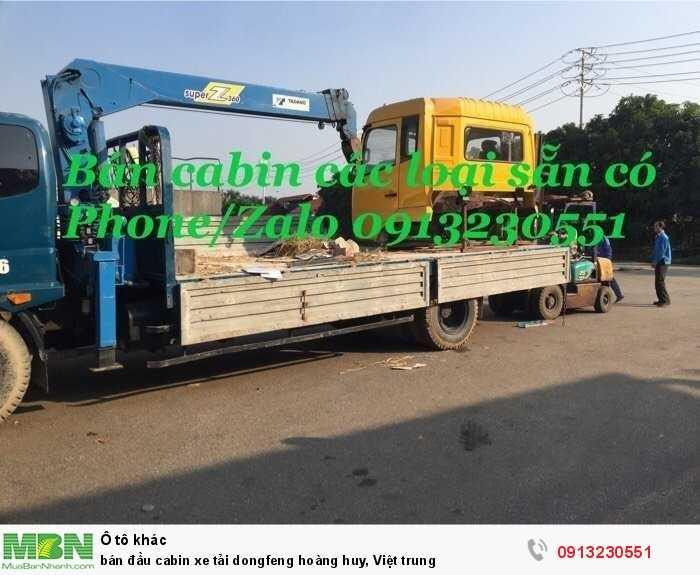 Bán đầu cabin xe tải Dongfeng Hoàng Huy, Việt Trung