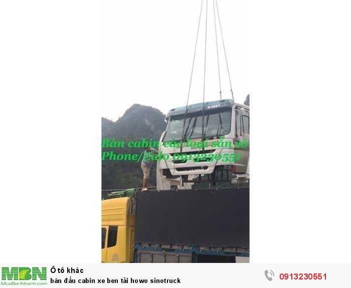 Bán đầu cabin xe ben tải Howo Sinotruck