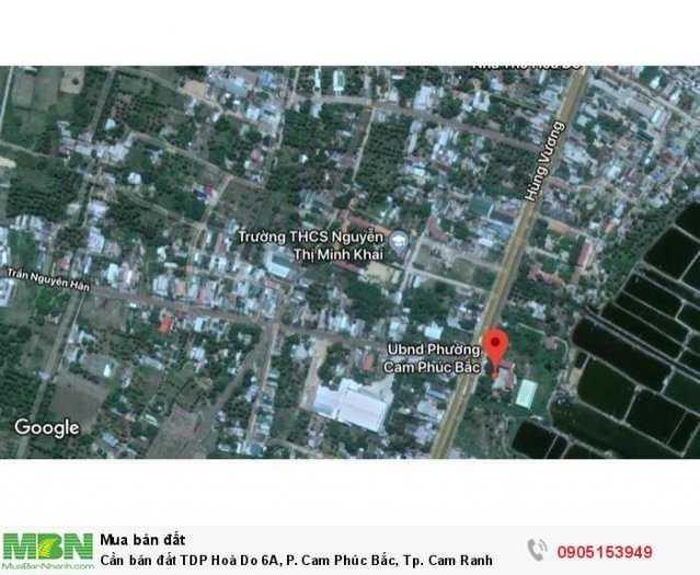 Cần bán đất TDP Hoà Do 6A, P. Cam Phúc Bắc, Tp. Cam Ranh