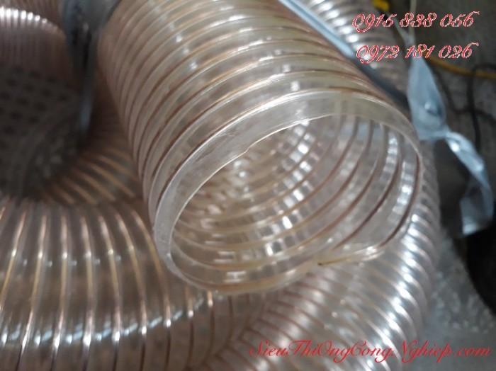 Bán ống hút bụi, hút khí bằng nhự PU lõi thép cacbon mạ đồng phi 100, phi 200