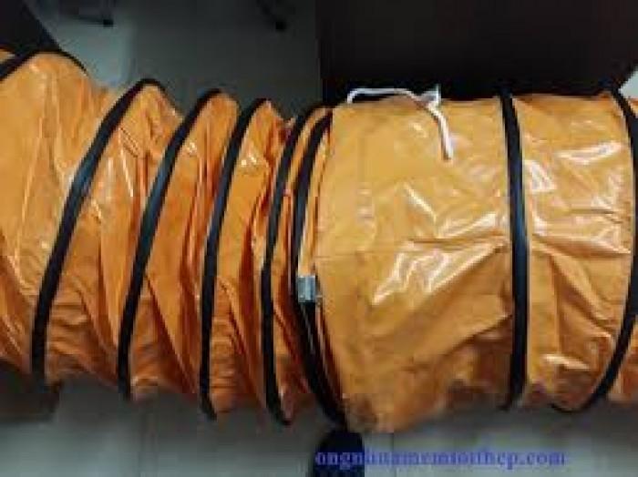 Ống gió vải Simili cam chuyên dùng cho quạt hút công nghiệp áp suất lớn15
