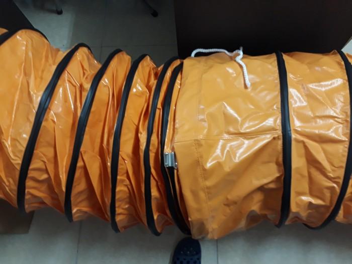 Ống gió vải Simili cam chuyên dùng cho quạt hút công nghiệp áp suất lớn9