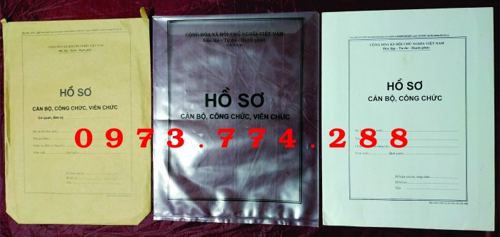 Bán bìa hồ sơ cán bộ công chức19