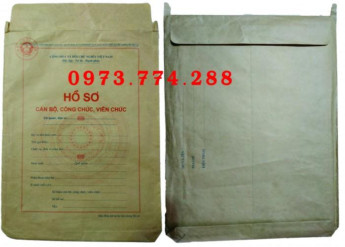 Bán bìa hồ sơ cán bộ công chức10