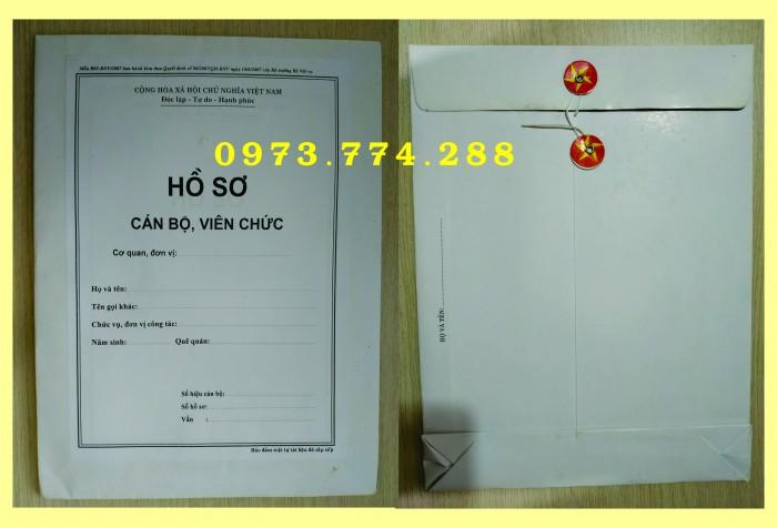 Bán bìa hồ sơ cán bộ công chức2