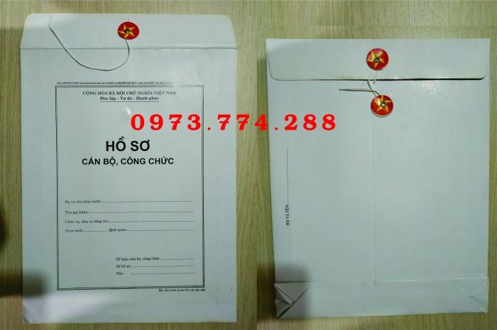 Bán bìa hồ sơ cán bộ công chức1