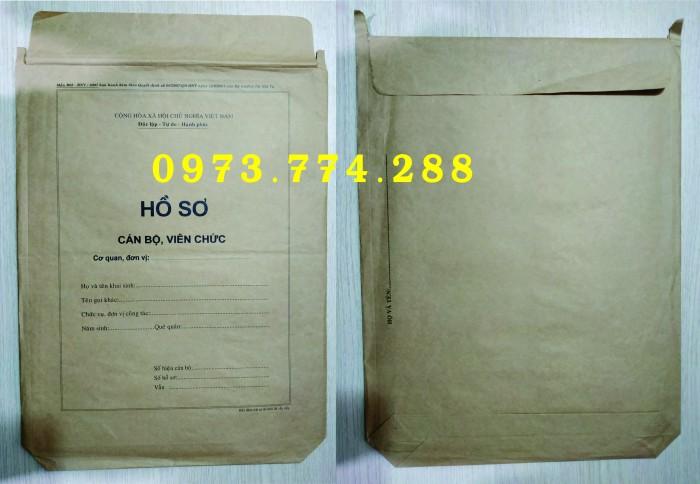 Bán bìa hồ sơ cán bộ công chức0