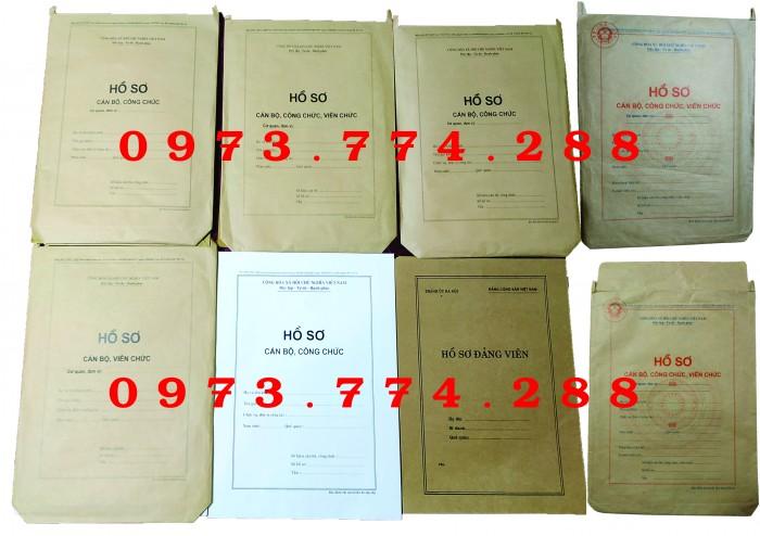 Bán vỏ hồ sơ cán bộ viên chức20