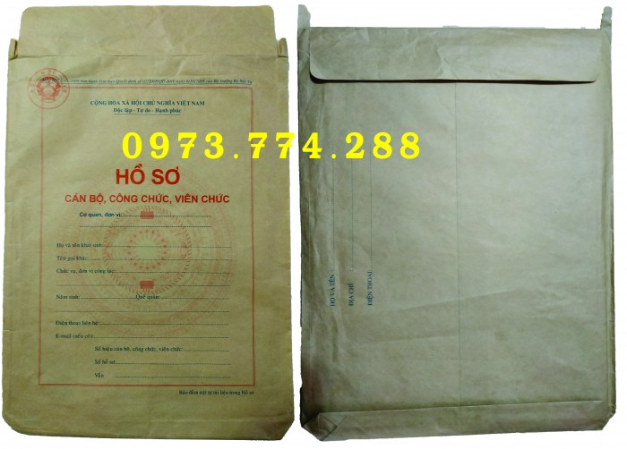 Bán vỏ hồ sơ cán bộ viên chức15