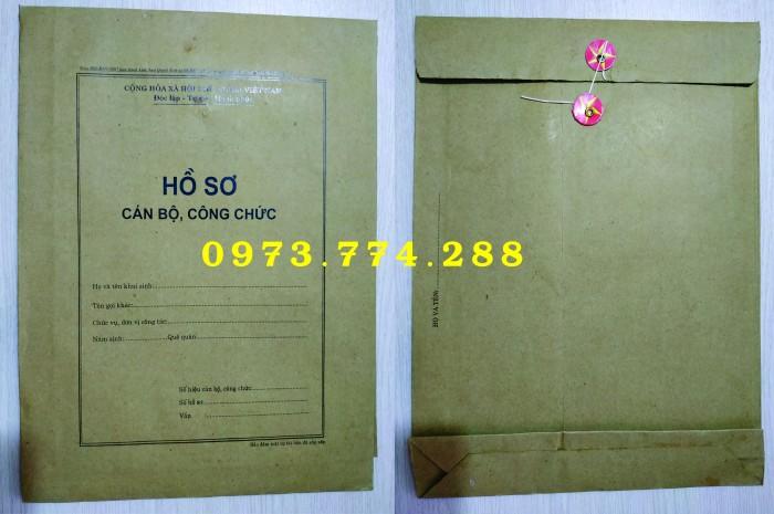 Bán vỏ hồ sơ cán bộ viên chức10