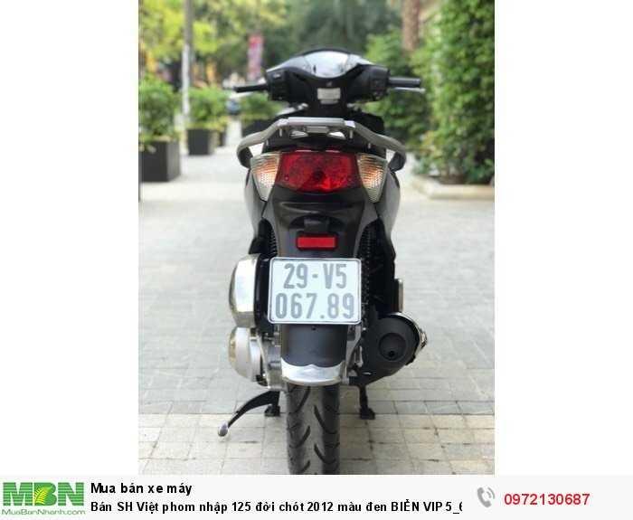 Bán SH Việt phom nhập 125 đời chót 2012 màu đen BIỂN VIP 5_6789- Biển Hà Nội