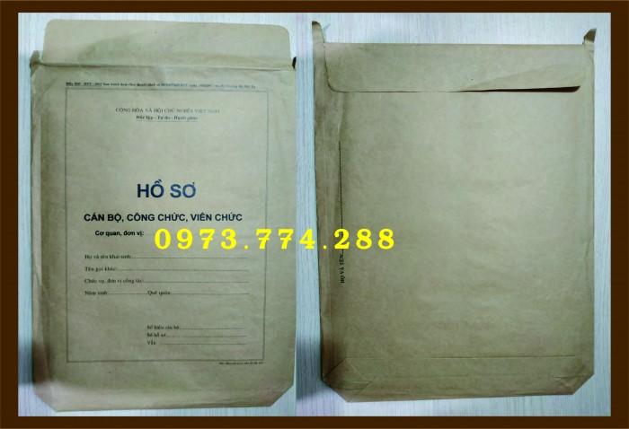 Túi hồ sơ Cán Bộ, Viên Chức các loại ......14