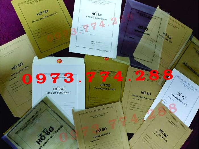 Túi hồ sơ Cán Bộ, Viên Chức các loại ......6