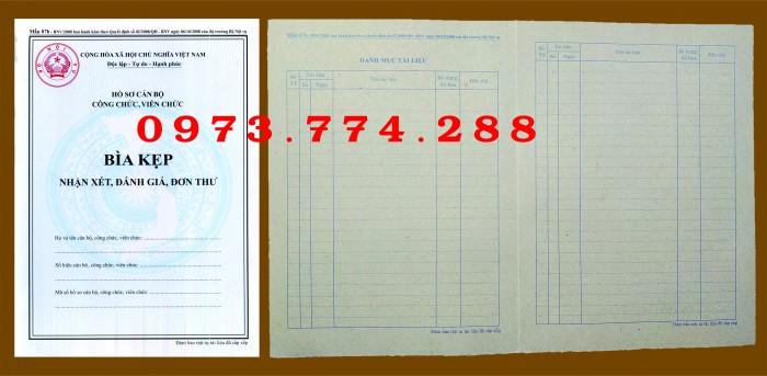Bìa hồ sơ cán bộ, công chức, viên chức