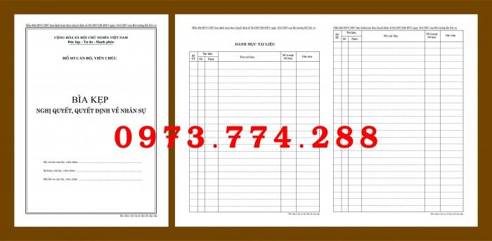 Bìa hồ sơ cán bộ viên chức16
