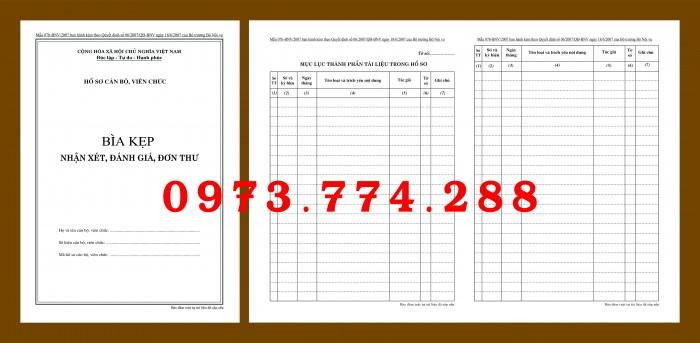 Bìa hồ sơ cán bộ viên chức15