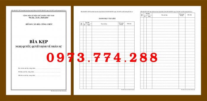 Bìa hồ sơ cán bộ viên chức13