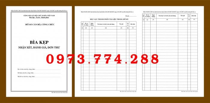Bìa hồ sơ cán bộ viên chức12