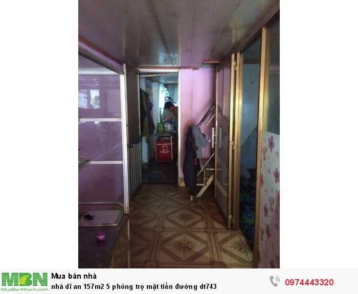 Nhà Dĩ An 157m2 5 phòng trọ mặt tiền đường dt743