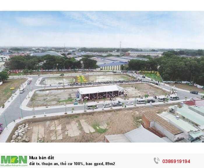 Đất Tx. Thuận An, Thổ Cư 100%, Bao Gpxd, 89M2