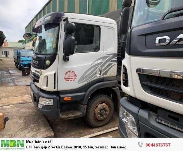 Cần bán gấp 2 xe tải Daewo 2018, 15 tấn, xe nhập Hàn Quốc