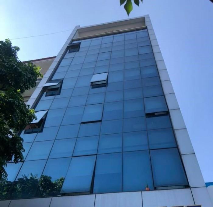 Tòa văn phòng mới đẹp 5 sao 8T thang máy, 175m2, mặt tiền 7m Gỉai Phóng, Hoàng Mai xíu