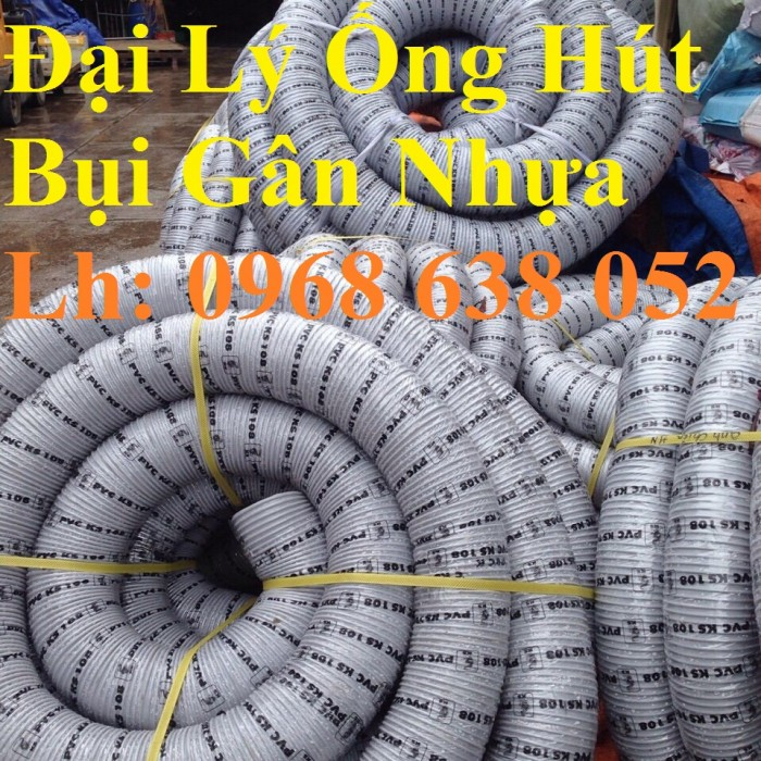 Ống hút bụi gân nhựa D40, D50, D60, D100, D114, D120, D150, D168, D200, D250, D300 hàng cao cấp7