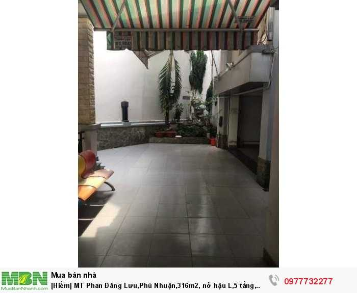 [Hiếm] MT Phan Đăng Lưu,Phú Nhuận,316m2, nở hậu L,5 tầng, 114tr/m2