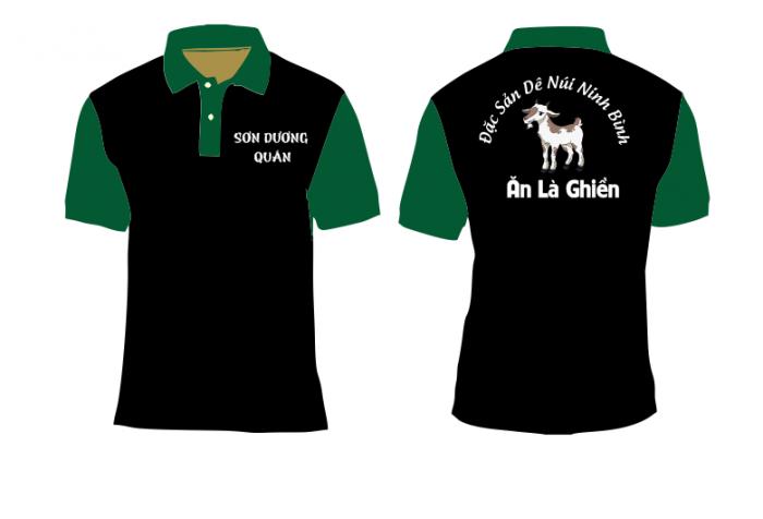 xưởng may áo thun đồng phục quán vịt quay - áo thun in logo giá rẽ