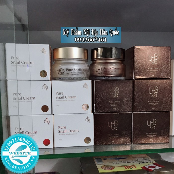 Kem Dưỡng Trắng Da Ốc Sên, UGB Pure Snail Cream (Hàn Quốc).