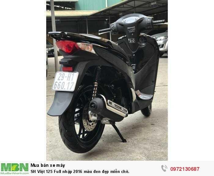 SH Việt 125 Full nhập 2016 màu đen đẹp miễn chê.