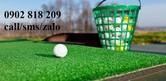 Rổ golf nhựa màu xanh đựng 50 banh3