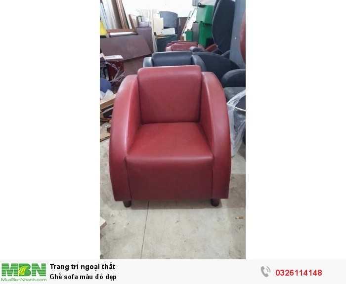 Ghế sofa màu đỏ đẹp