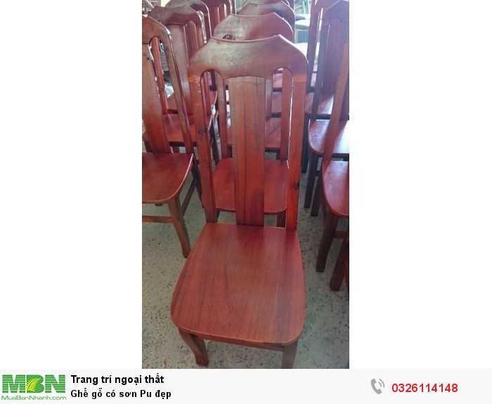 Ghế gỗ có sơn Pu đẹp
