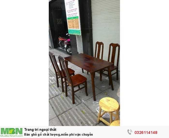 Bàn ghế gỗ chất lượng,miễn phí vận chuyển