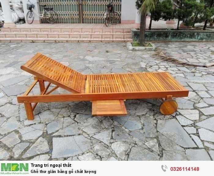 Ghế thư giãn bằng gỗ chất lượng0