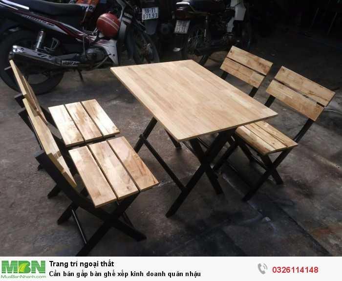 Cần bán gấp bàn ghế xếp kinh doanh quán nhậu